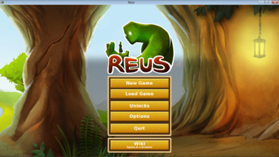 Reus start screen.