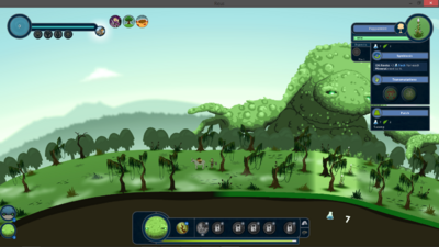 Screenshot of game with HUD.